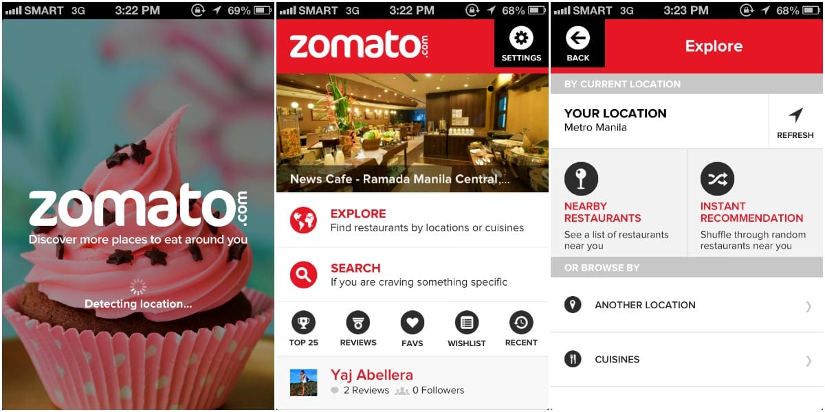 Zomato Screenshots
