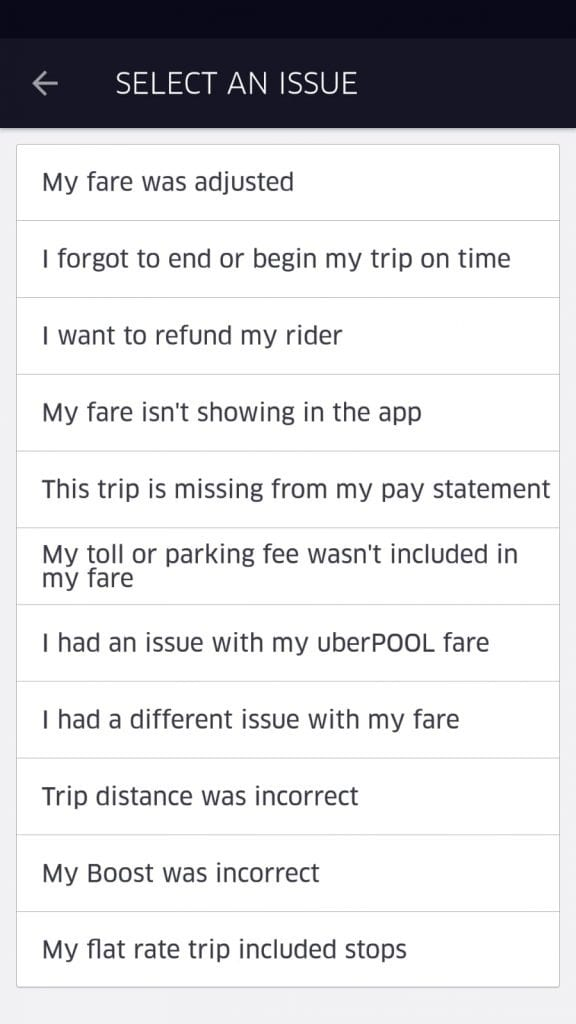 Uber Customer Service Fare Adjustment Help