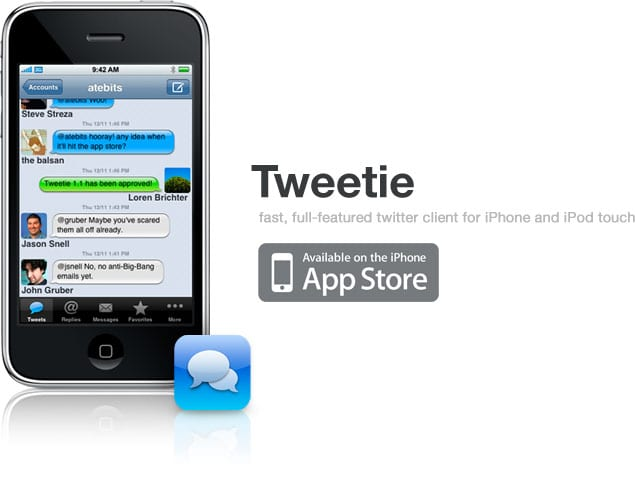 Twitter app Tweetie for iPhone