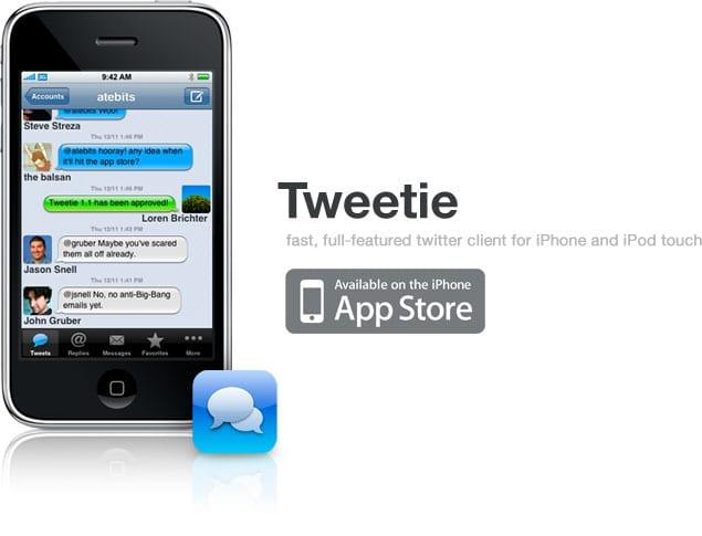 Twitter app Tweetie for iPhone