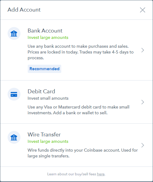 Coinbase Account Type