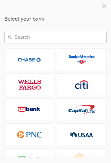Coinbase Bank Selection