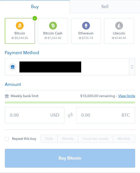 Coinbase Buying Cryptocurrency