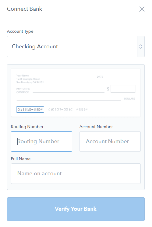 Coinbase Manual Bank Account Linking