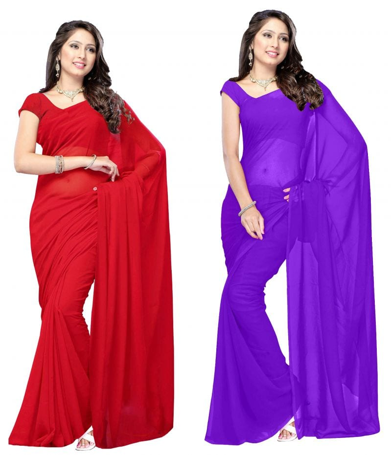 D:\paresh\articles date wise\5-11-2018\images\vdyd1001-15_main._parisha-latest-2-pieces-combo-red-and-dark-purple-color-saree-in-georgette-fabric.jpg