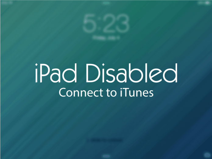 Troubleshooting a Disabled iPad