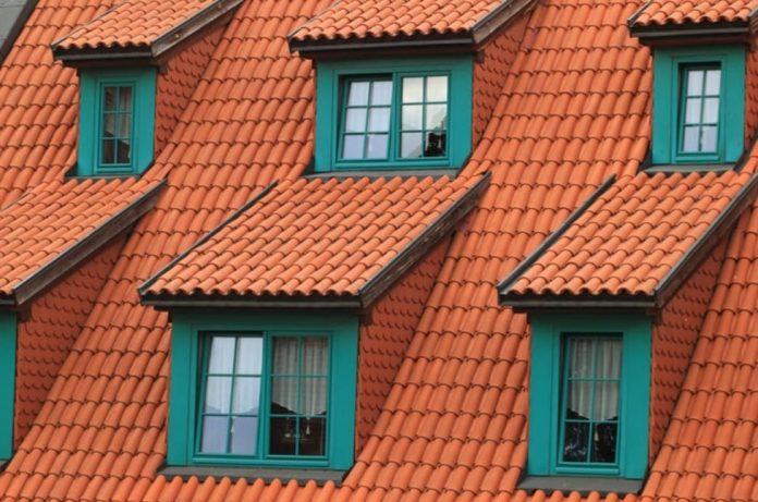 Orange roof green windows