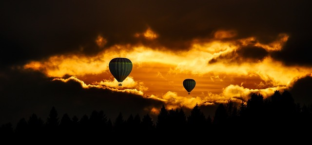 travel, hot air balloon, aviation