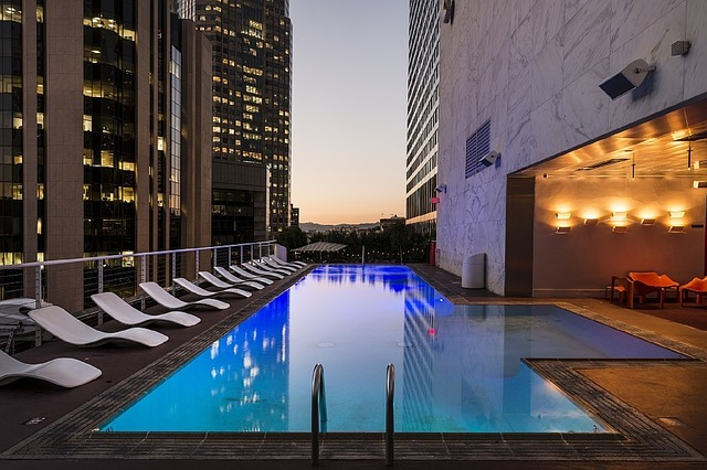 pool, swimming, rooftop