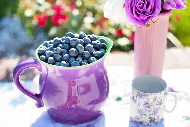 blueberries, summer, fruit