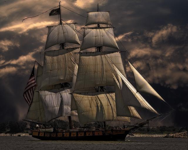 sailing ship, vessel, boat
