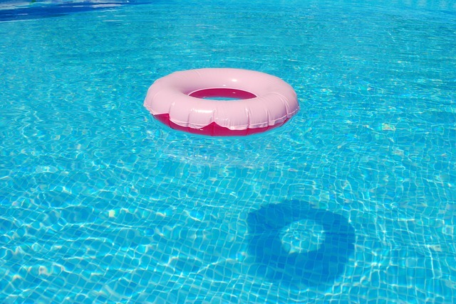 floating tire, summer, water