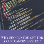 Why Should You Opt For A Custom-CRM System?
