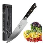 Zelite Infinity Chef Knife 8 Inch, Damascus Japanese AUS-10 Super Stainless Steel Blade Review