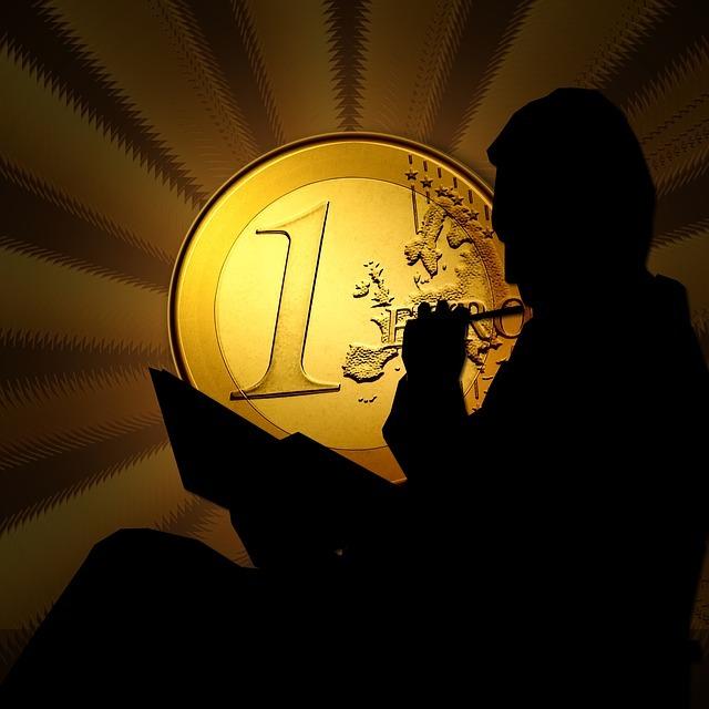 euro, coins, man