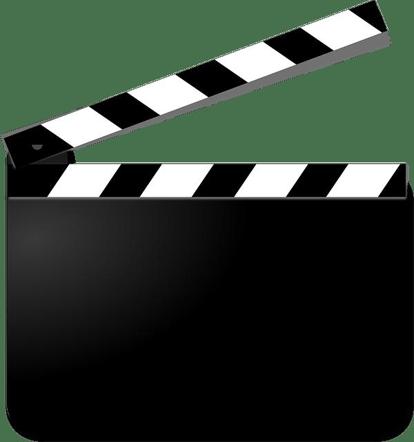 clapperboard, film, movie