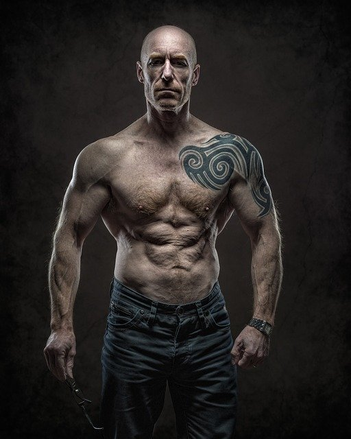 athlete, brawny, strong