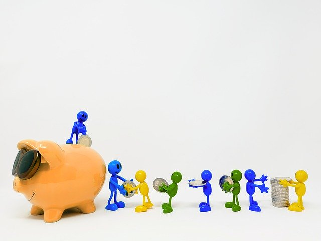 save, piggy bank, teamwork