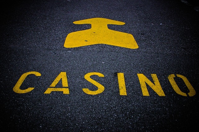 casino, note, roadway