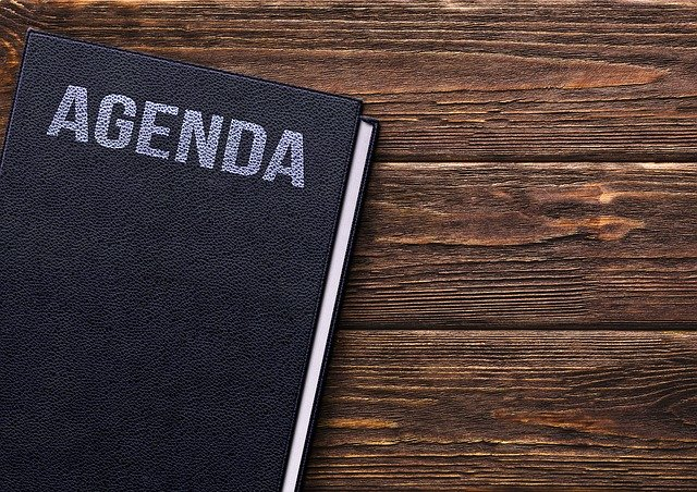 book, agenda, table