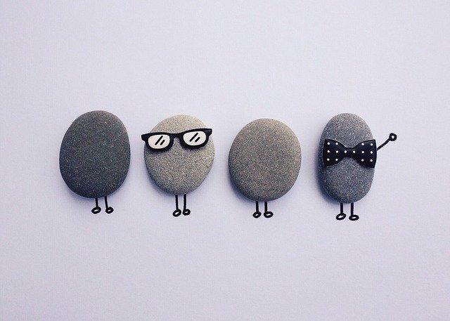 rock, art craft, people