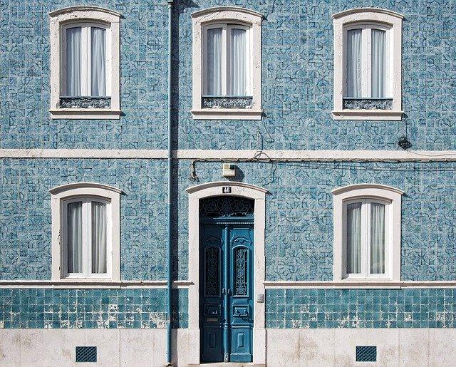 architecture, building, door
