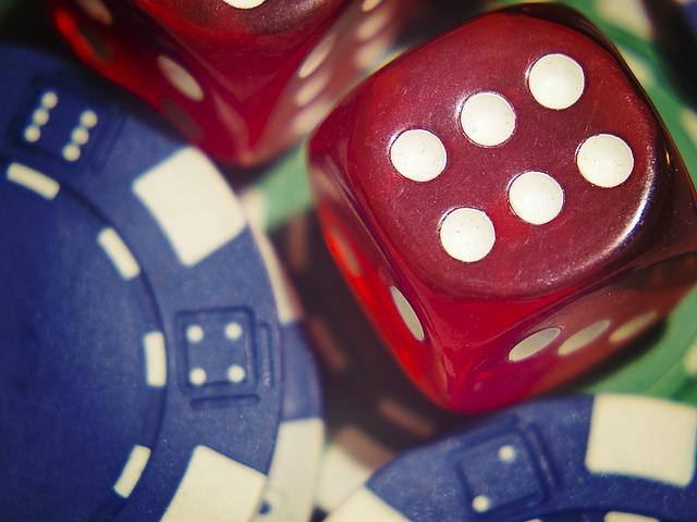 dice, gamble, poker