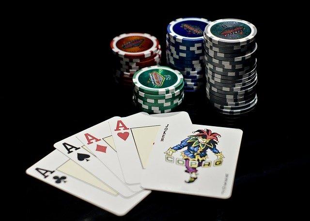 letters, poker, deck