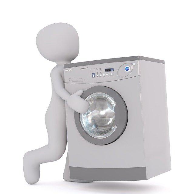 washing machine, white male, 3d model